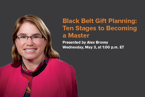 Pentera Presents Alex Brovey in Webinar May 3 on How to Earn a Black Belt in Gift Planning